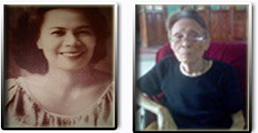 From left is the late Ms. Paz Caguia of Barangay [village] Salog, Sorsogon City and Mrs. Maria Lareza Uy-Abitria of Sulucan [Right]Mrs. Maria Lareza Uy-Abitria