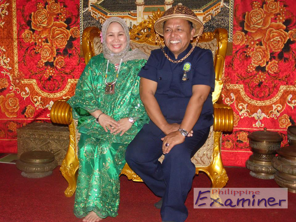 Majesty Raja [King] Mohammad Ghamar Mamay Hasan Abdurajak and Queen Maria Makiling Helen Fatima Nasaria Panolino Abdurajak of the Royal Imperial Lupah Sūg Islamic United Kingdom of Sulu and North Borneo.