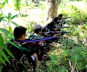 Government troops clashes with rebels in Guinobatan, Albay