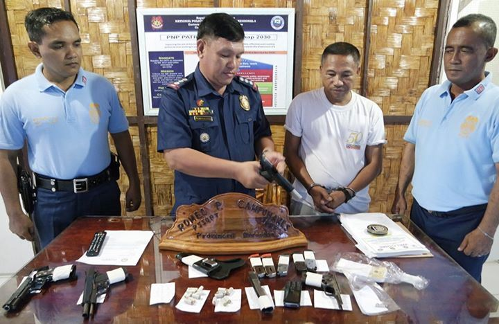 BFP personnel nabbed in Borongan City for illegal possession of firearms and ammunition