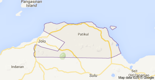 Map of Patikul,Sulu