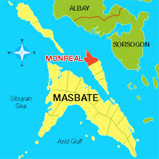 Map of Monreal, Masbate.