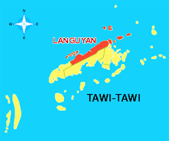 Map of Langyan, Tawi - Tawi.