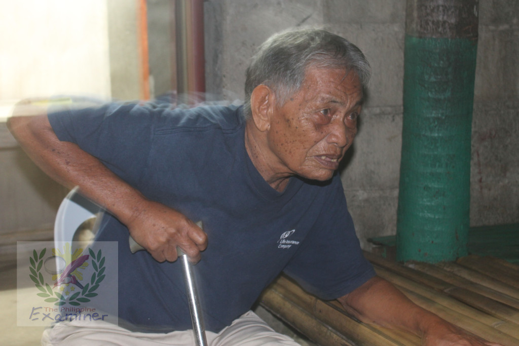 The Elder local historian. Francisco Arcilla Villarino, 88 years old of Bagamanoc, Catanduanes.