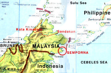 Filipino bandits tagged in the abduction of four Malaysian seamen  in Semporna, Malaysia