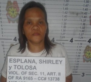 The Jailbird. Shirley Esplana y Tolosa. Photo courtesy by Legazpi City Police.