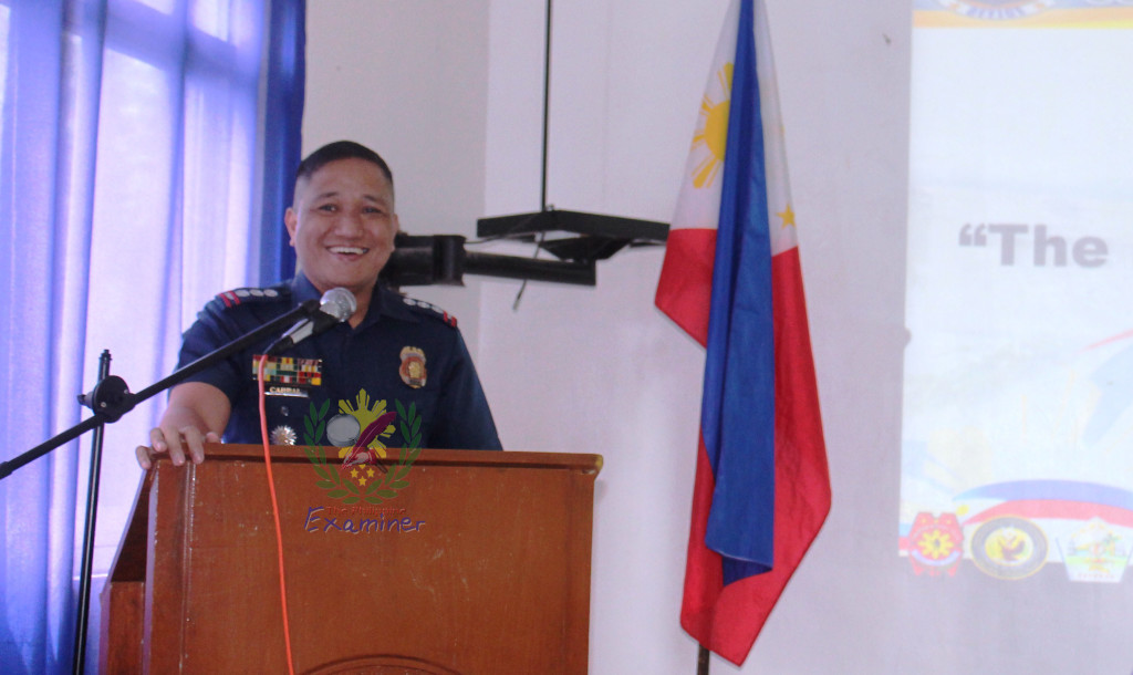 Press briefing at Camp Salvador C. Escudero, Sr, Police Senior Superintendent Ronaldo R. Cabral.The Philippine Examiner file photo.