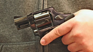 Filminera driver held for gun possession