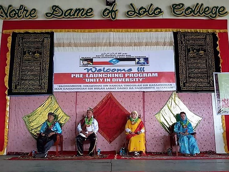 """Unity in Diversity"" The Pre-Launching Program held at the Notre Dame of Jolo College, Jolo, Sulu on May 13, 2017. Photo by Royal Imperial Lupah Sūg Islamic United Kingdom of Sulu and North Borneo."