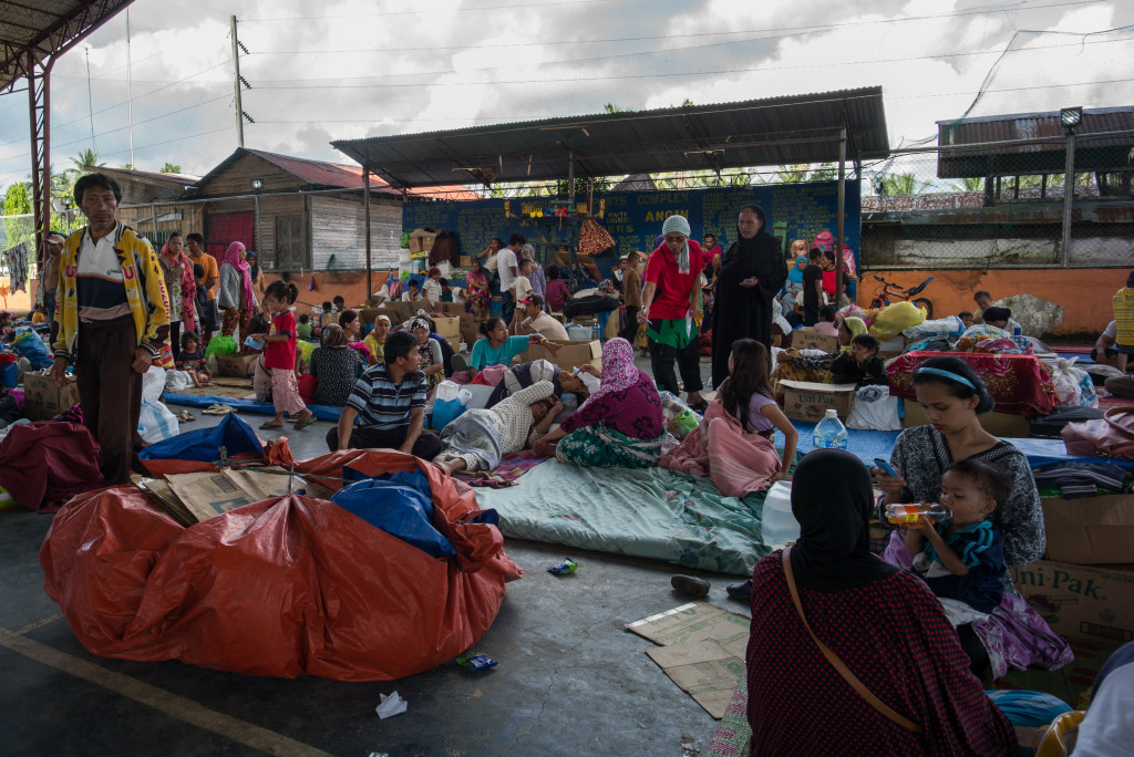 A Scene from the ICRC Evacuation Center in Marawi City. Photo by Allison Lopez.