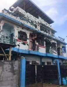 Bullet-Ridden House in Marawi City as fighting continue on the besieged city.