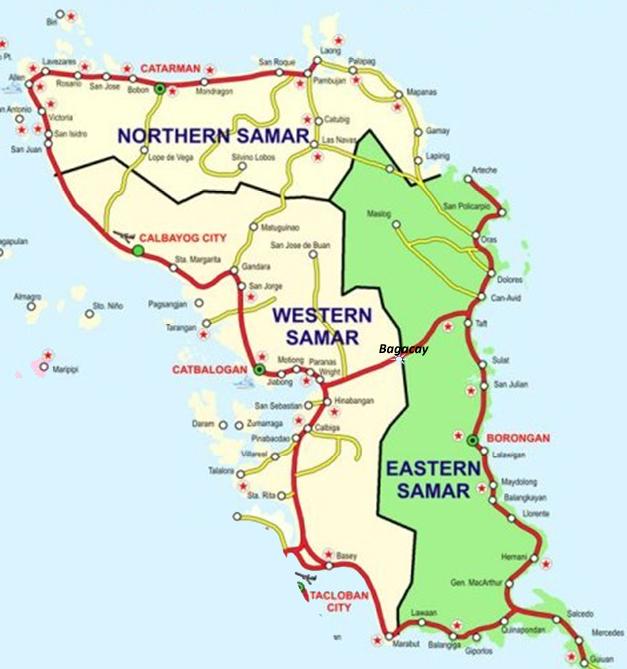 Map of Samar Island.