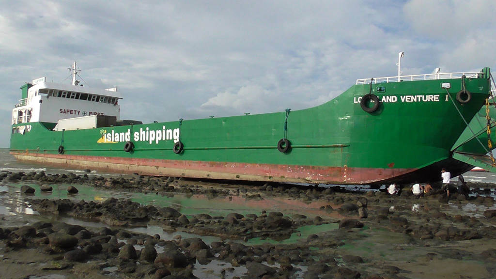 Ship run aground in Cawayan, Masbate