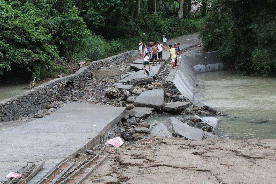 Heavy rains destroys spillway bridge in Bulan, Sorsogon