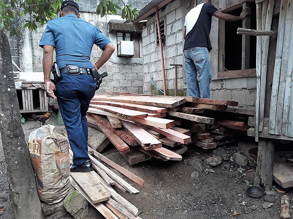 Four persons held for violation of Presidential Decree 705, one for illegal possession of chainsaw in Virac. Catanduanes