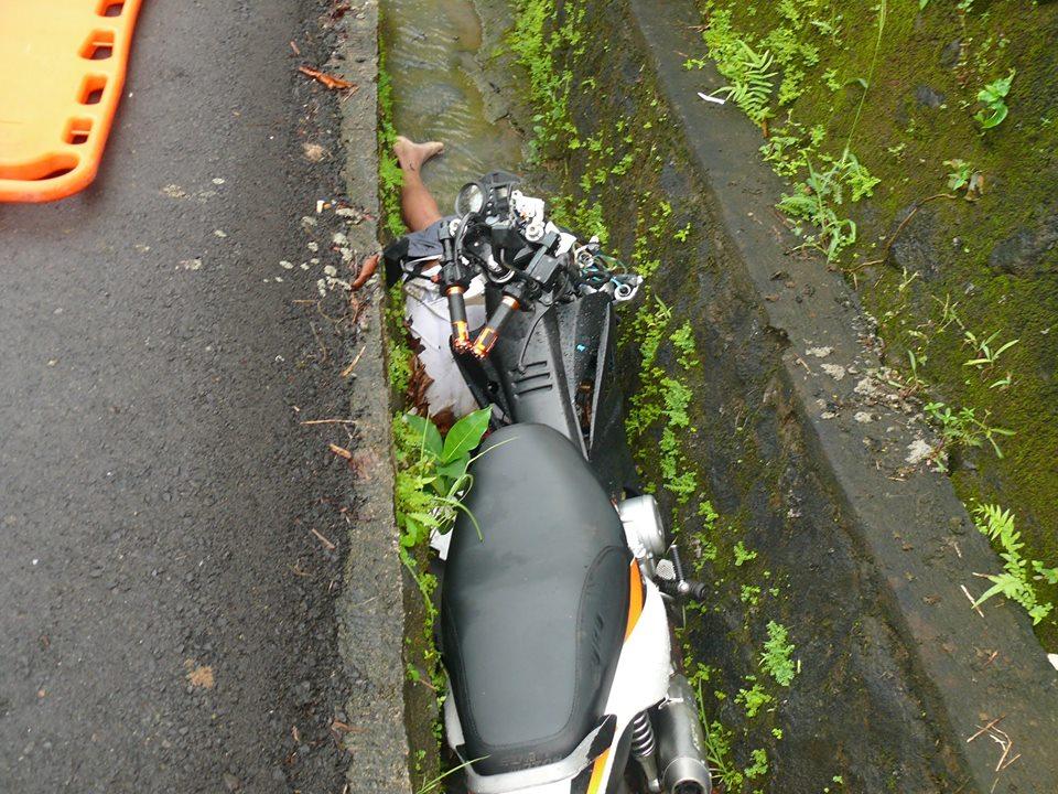 Sto. Domingo, Albay: Male evacuee dies in a motorcycle crash