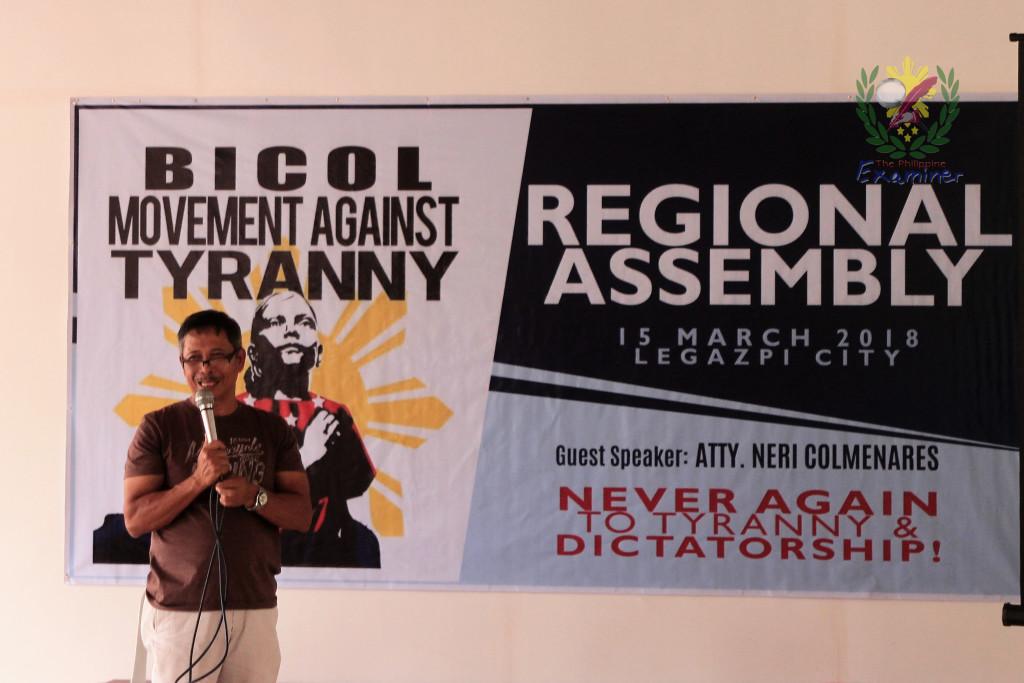 BAYAN MUNA – BIKOL urges Bikolano unity to stand-up agaist charter change and tyranny