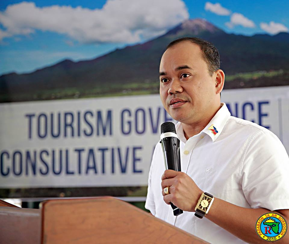 Sorsogon Provincial Tourism Officer Bobby G. Gegantone. Sourced photo from Bobby G.Gegantone's Facebook account.