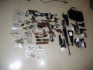 Two Masbate gun-smiths held for illegal possessions of firearms and ammunition