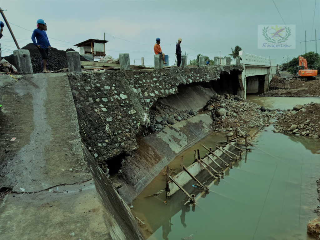 The Nagas Bridge 1 that connects Tiwi and the entire 2nd District of Albay was severely damaged by floods during the height of Tropical Depression Usman. File Photo by www.philexaminer.com